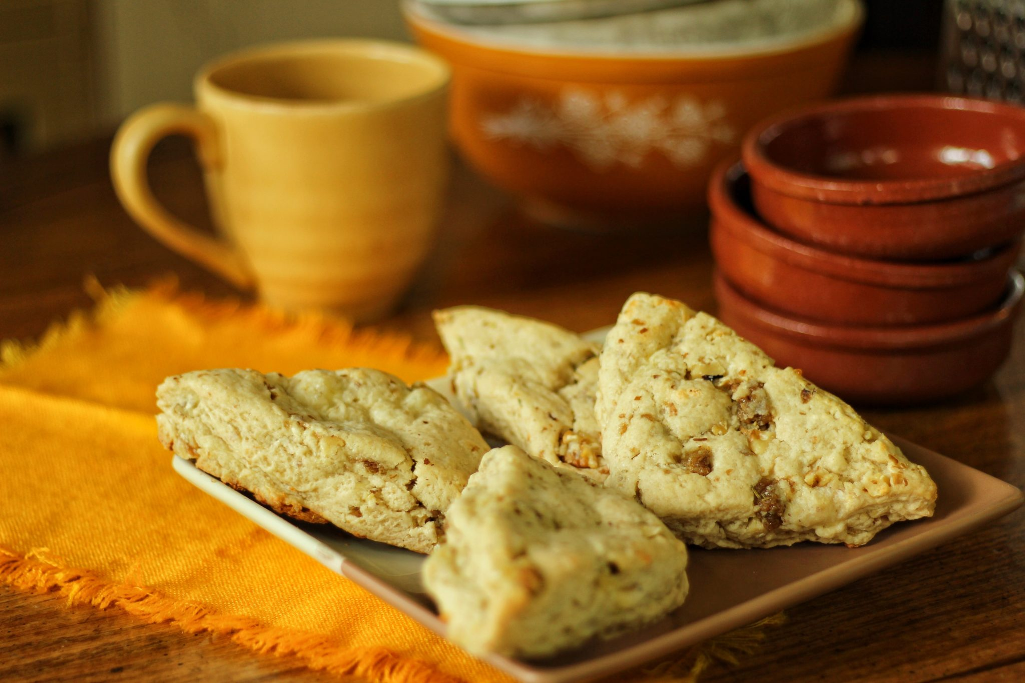 cheddar nut scones far